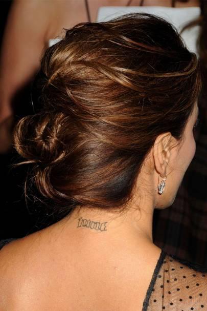 Eva Longoria – 'Tony Parker' tats