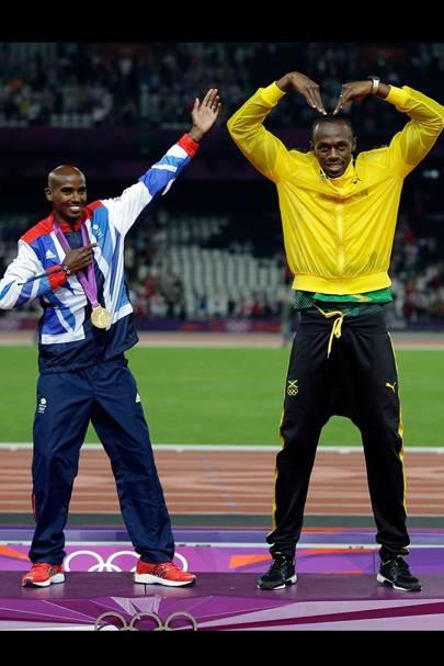Mo Farah & Usain Bolt