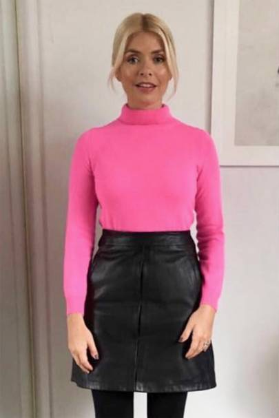 Holly's in the pink
