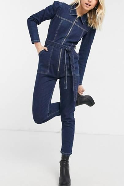Best Denim Jumpsuit: Slim Fit