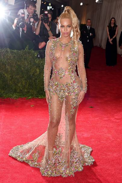 Beyonce wearing Givenchy at the 2015 Met Gala