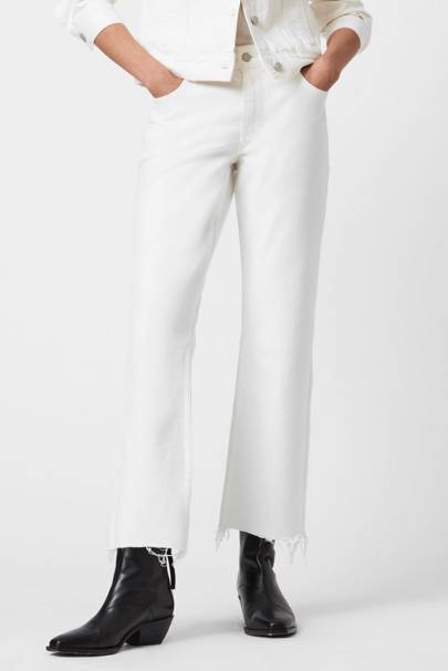 Best bootcut white jeans