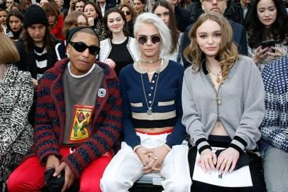 Pharrell, Cara Delevingne, Lily-Rose Depp