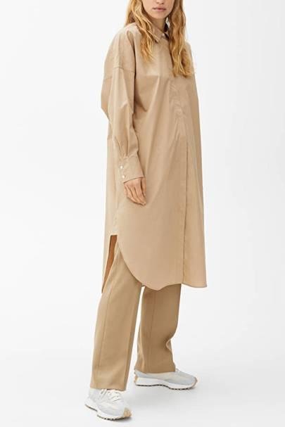 Drouser trend: oversized shirt dress