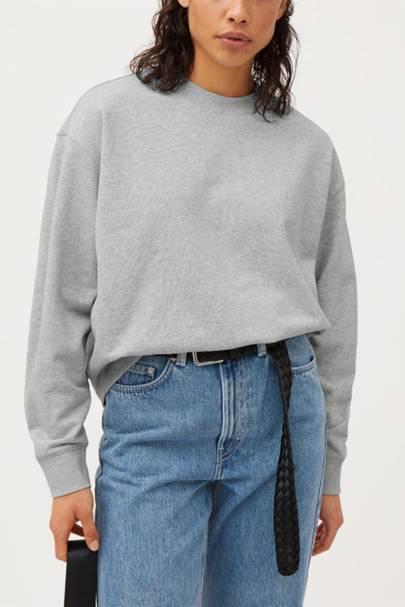 The crew-neck sweatshirt
