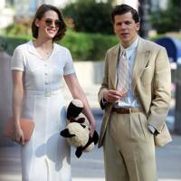 Kristen Stewart and Jesse Eisenberg in Café Society