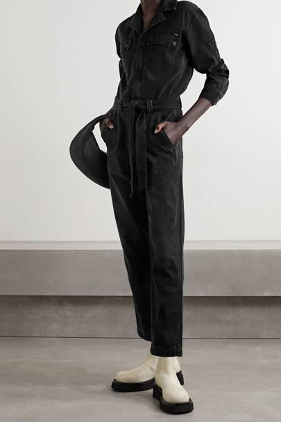 Best Denim Jumpsuit: Black Denim