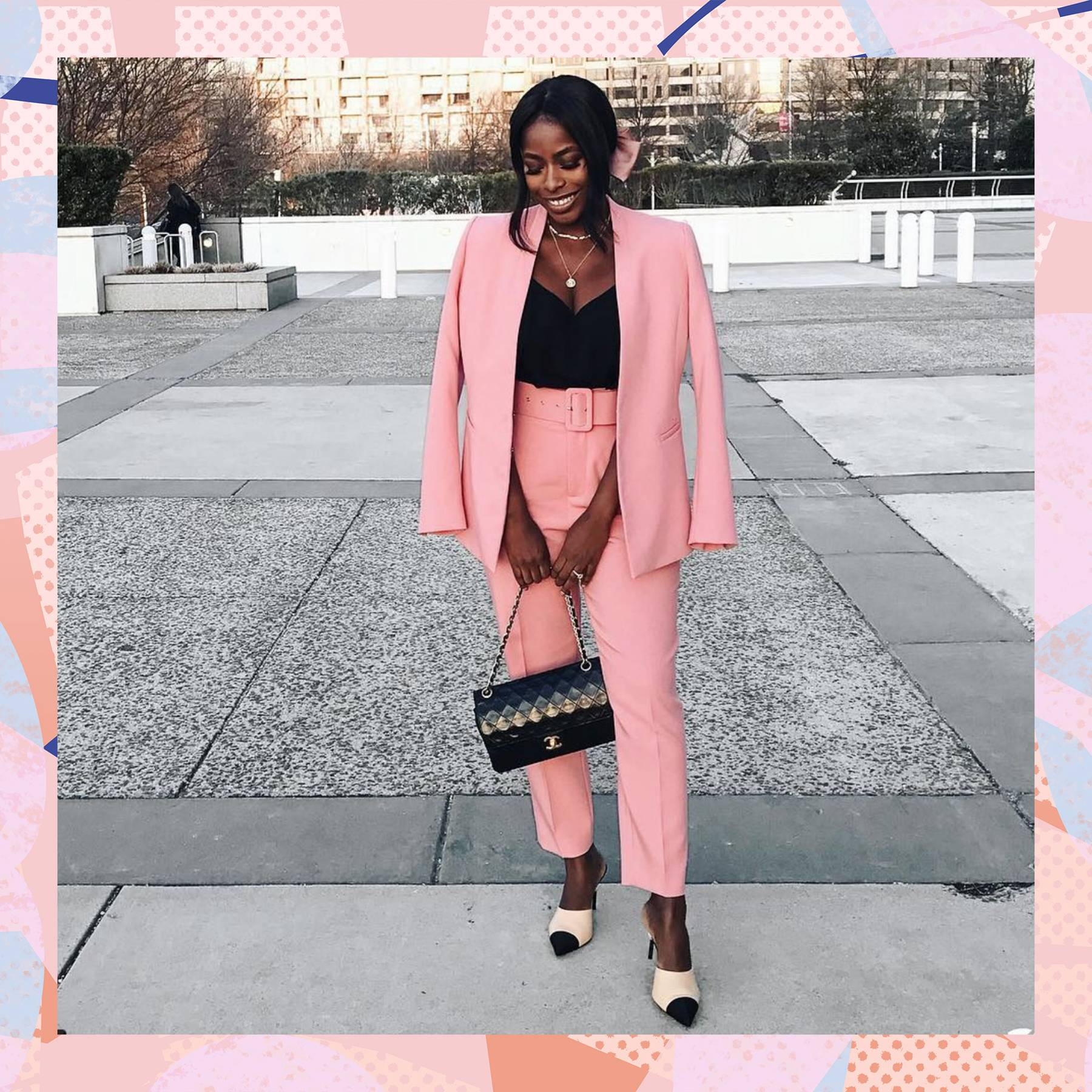 cd664417 This totally affordable pink Zara suit is the spring outfit all the  bloggers are wearing