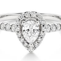 PEAR-SHAPED RING