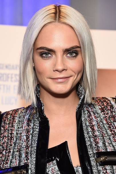 Yes - finally a full view of Cara's ace new locks! Her silvery ice ...