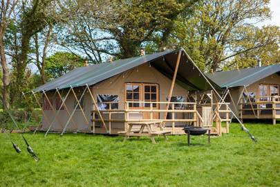 Best glamping tent with hot tub
