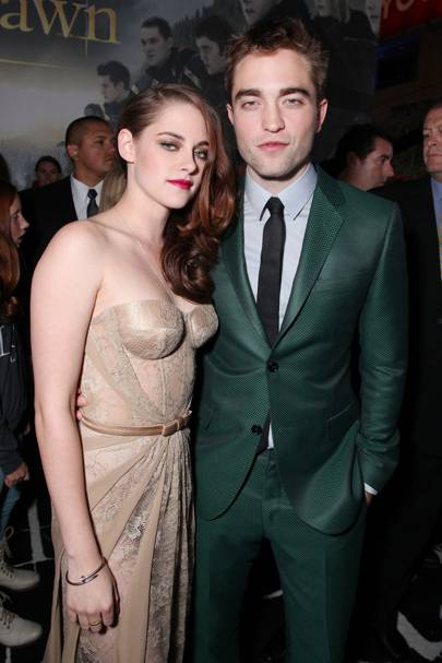 Robert Pattinson & Kristen Stewart at the LA premiere
