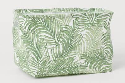 Palm print storage basket