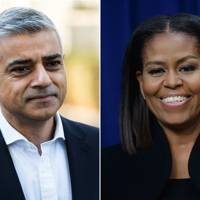 Michelle Obama, former First Lady, by Sadiq Khan, Mayor of London