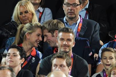 That Moment When They Canoodled Behind David Beckham At The 2017 London Olympics Was Everything