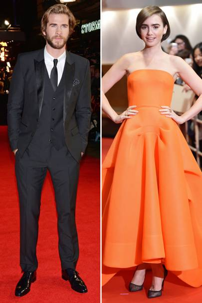 Glamour: Lily Collins & Liam Hemsworth