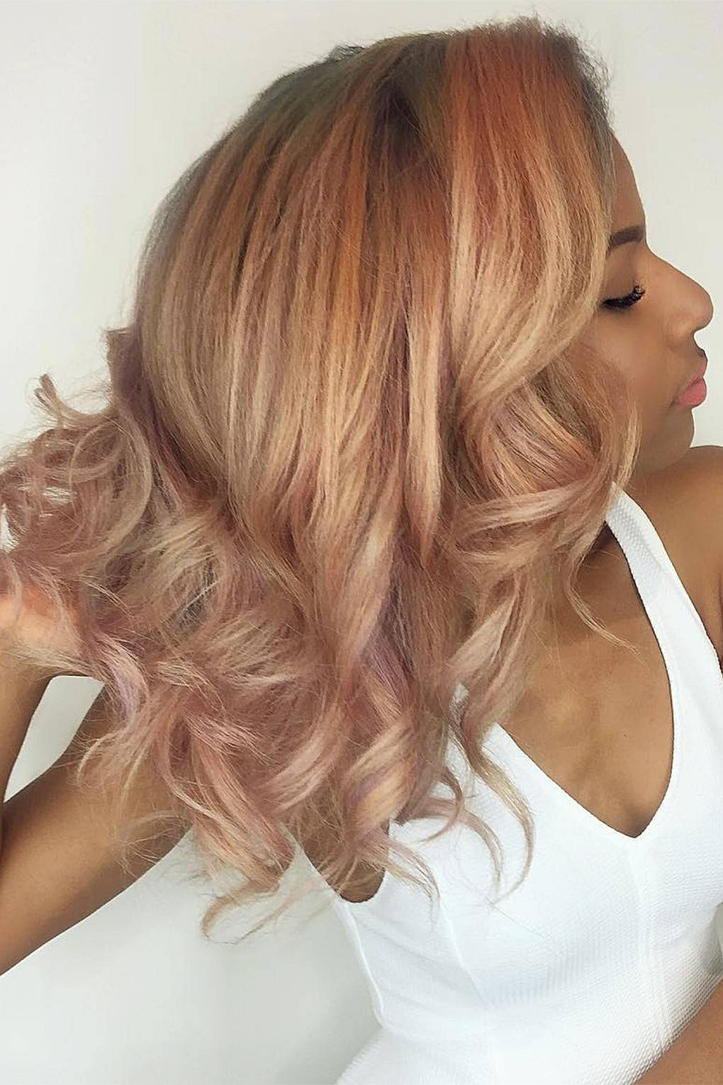 Rose Gold Hair Colour: The Trend For The Perfect Pink Hair Shades ...