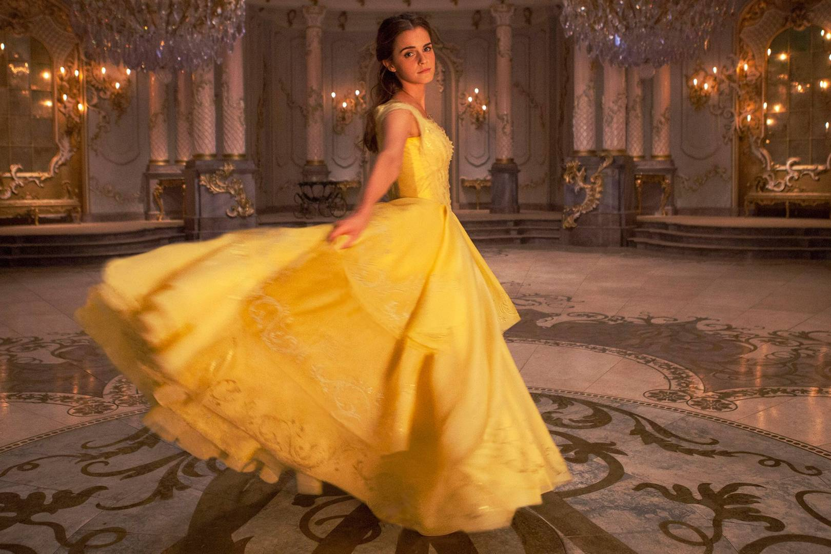 f039b027e8b Emma Watson on Belle s yellow dress in Beauty and The Beast   how it felt  to wear it