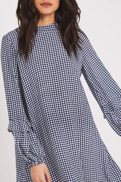 Best Gingham Knee-Length Dress - Finery London
