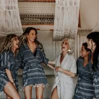 Bridesmaid robes: for the destination wedding