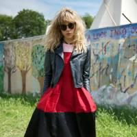 Suki Waterhouse at Glastonbury