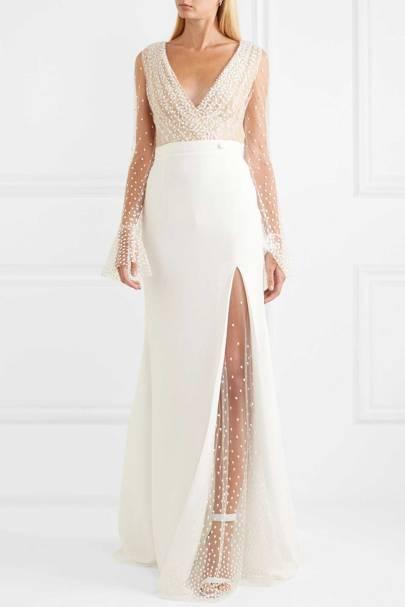 LONG-SLEEVED WEDDING DRESS: EMBELLISHED