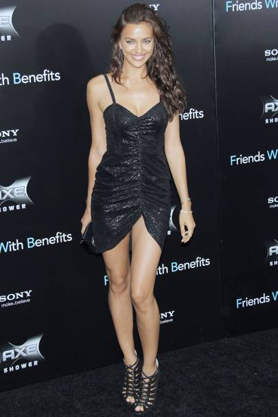 DON'T #9: Irina Shayk at the Friends With Benefits premiere, July