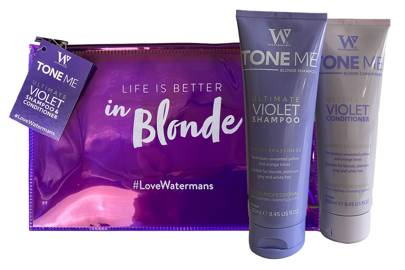 The toning shampoo and conditioner