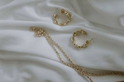 Corin Gold Hoops and Lorelei Necklace by Nash & Ivy