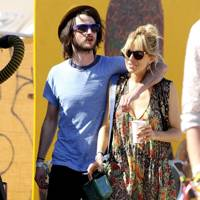 Tom Sturridge and Sienna Miller at Glastonbury