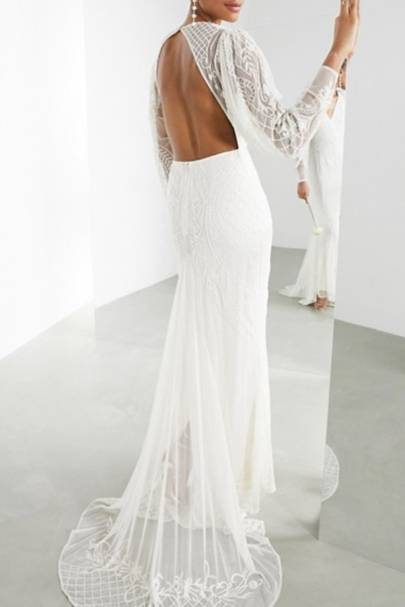 Best open back ASOS wedding dress