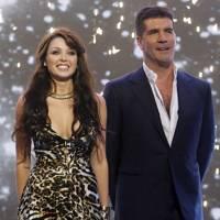 Danni Minogue and Simon Cowell