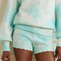 Tie-dye knitted shorts