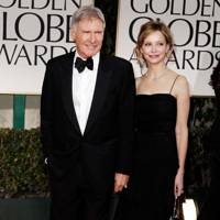 Harrison Ford and Calista Flockhart at the Golden Globes 2012