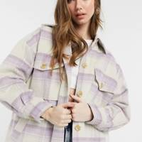 Best Shackets For Spring - Lilac Check