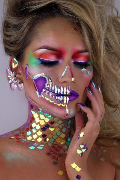 A Thousand Times Yes For This Bright Halloween Inspired Look If Youre Not Following Mua Vanessa Davis On Instagram You Really Ought To Be
