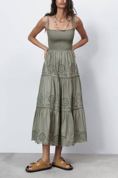 ZARA SUMMER SALE: KHAKI DRESS