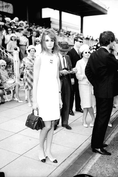 Jean Shrimpton at Derby Day 1965