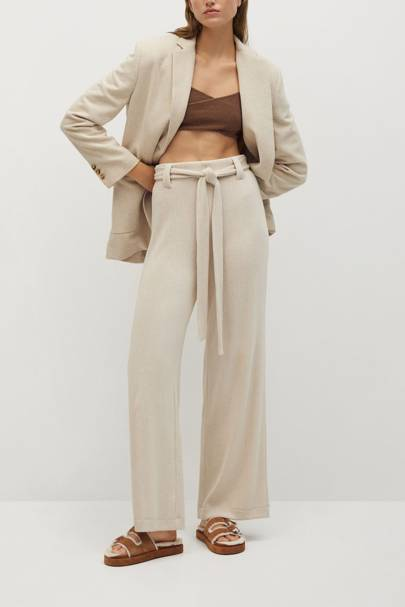 Best loungewear: the belted trousers