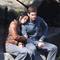 Jennifer Lawrence & Liam Hemsworth in The Hunger Games: Mockingjay Part 1