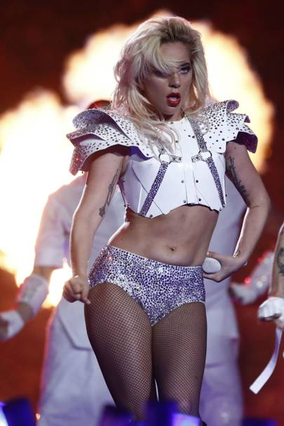 Lady Gaga is glitzy in mirror embellished jumpsuit at the