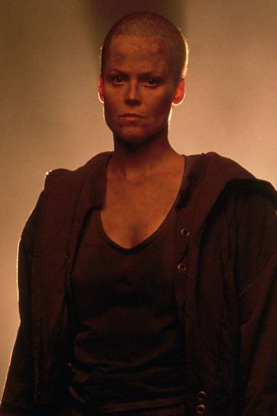 Sigourney Weaver's Shaved Head - Alien 3, 1992
