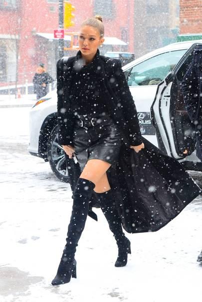 The snow blizzard