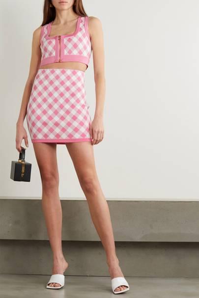Best Gingham Skirt - Balmain