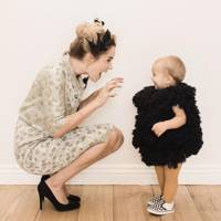 Lauren Conrad as The Birds with her son