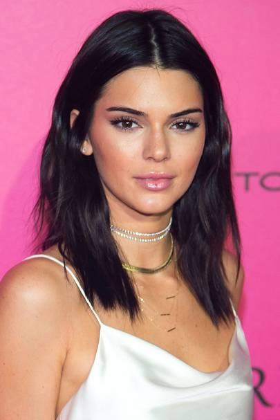 Kendall's pinky-purple look