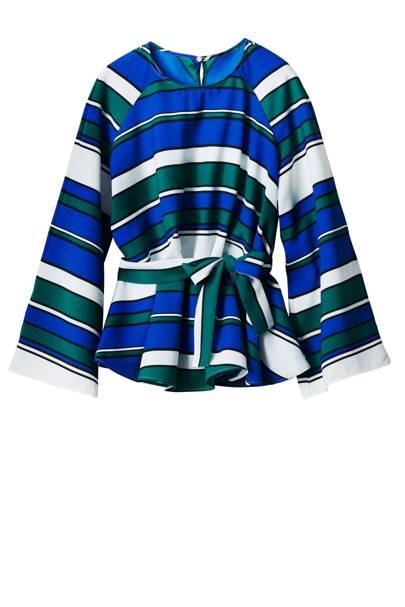 The item: A colourful striped blouse a la Amal Clooney