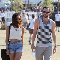 Zoe Kravitz and Penn Badgley at Coachella