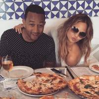 Chrissy's tweet:  'I have come to realize that at some point in the day, I will order and consume a pizza so it might as well be in the morning.' - October 2015
