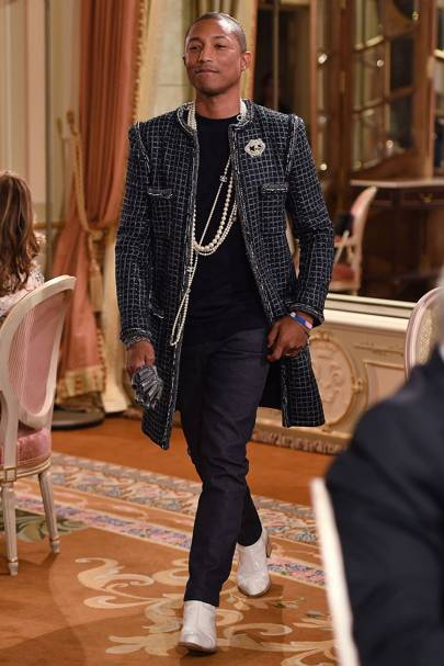 e20f448a54473 Pharrell Williams walks in the Chanel show in Paris